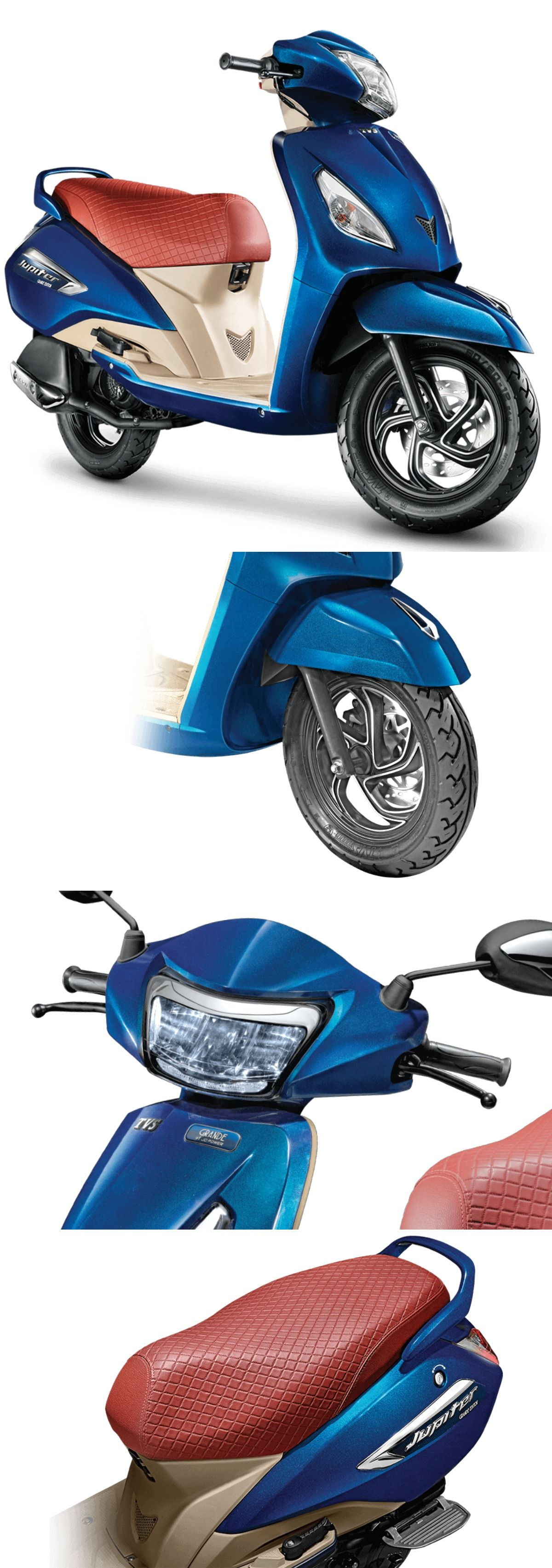 All New Tvs Jupiter Grande Edition Scooter Ride Happiness To Your