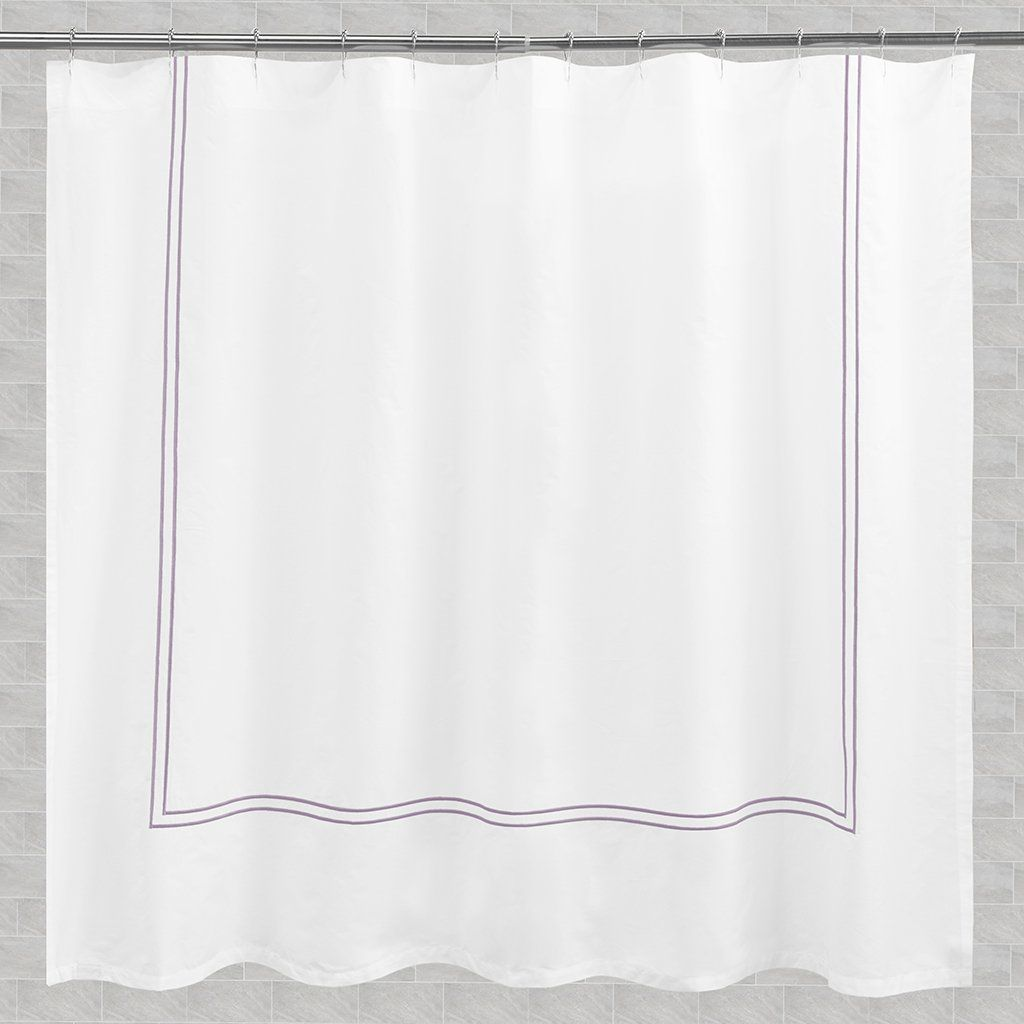 The Lines Embroidered Shower Curtain Extra Long 72 W X 96 L