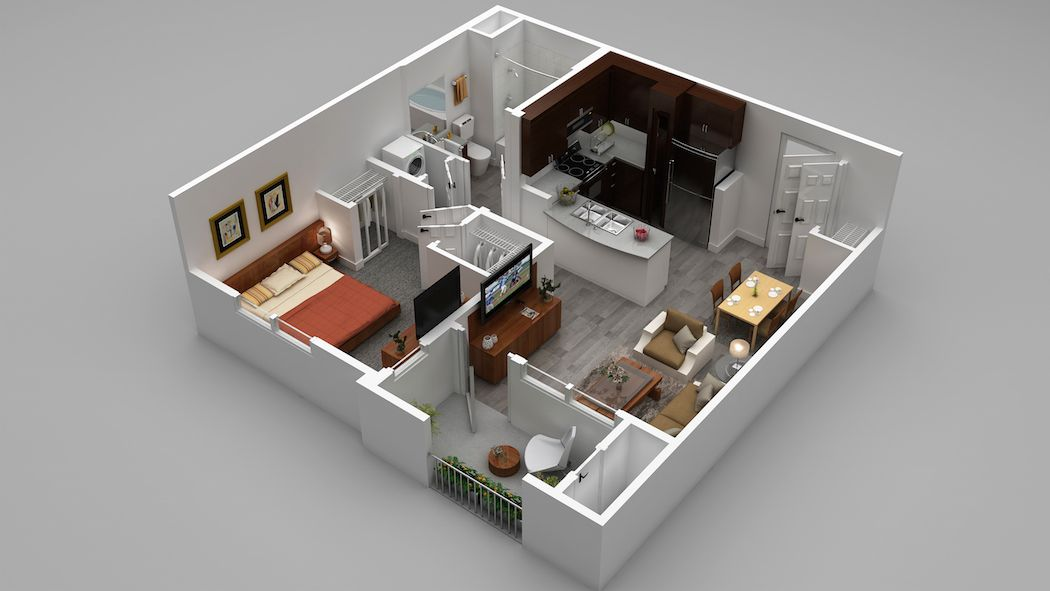 Our A1 Floorplan 678 786 Square Feet Apartments For Rent Luxury Apartments Floor Plans