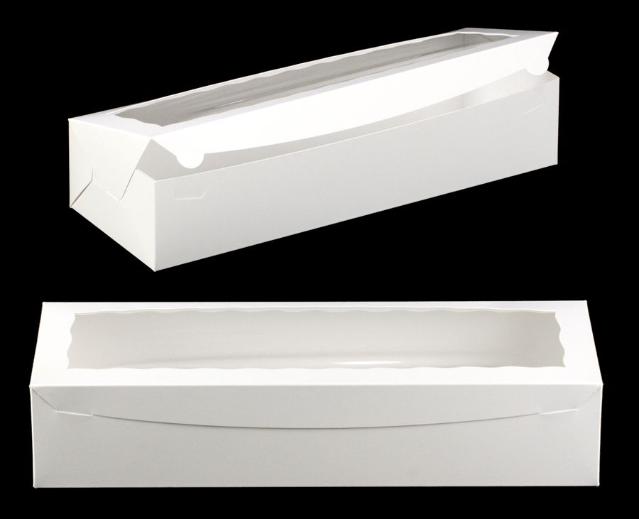 3512 20 X 7 X 4 White White With Window One Piece Lock Tab Box With Lid Strawberry Gifts Strawberry Box Box With Lid