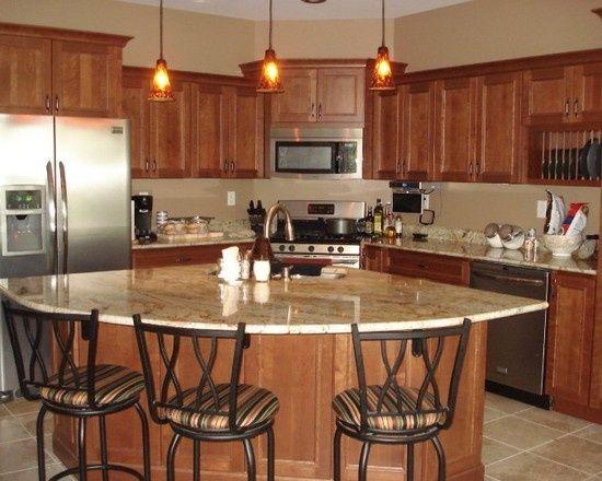 Beautiful Corner Kitchen With Island   Google Search