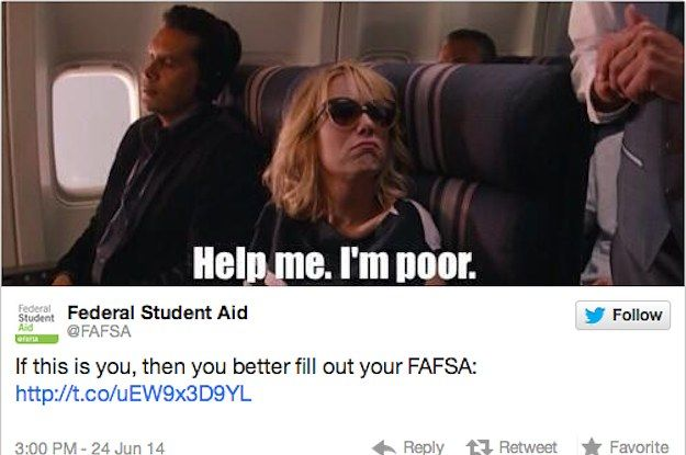 Fafsa Apologizes After Tweeting Help Me I M Poor Meme Movie Quotes Funny Funny Movies Ladies Movie Night