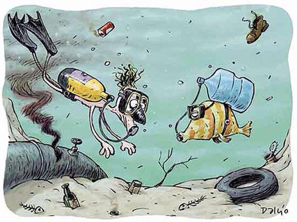 Dejemos De Tirar Basura Al Oceano Contaminacion Del Agua Dibujos Contaminacion Del Agua Arte Ambiental