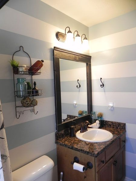 Striped Bathroom Reveal   Lavender And Lemon Drops