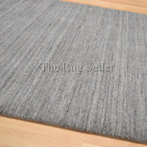 Plain Abrash Wool Rugs In Grey Free Uk Delivery The Rug Er