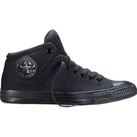 Zapatos negros Converse All Star Hi Suede para mujer TGWfAMDq