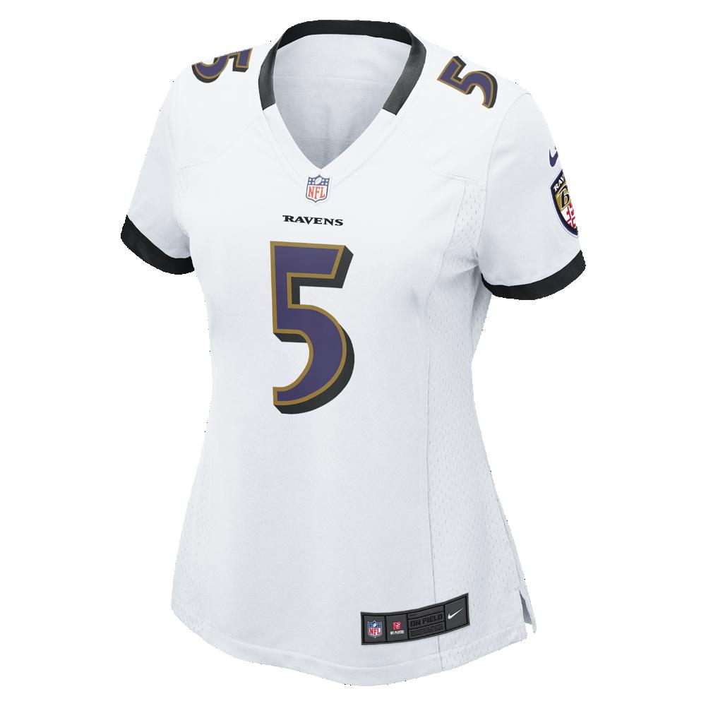 346068673 Nike NFL Baltimore Ravens (Joe Flacco) Women s Football Away Game Jersey  Size Large (White) - Clearance Sale