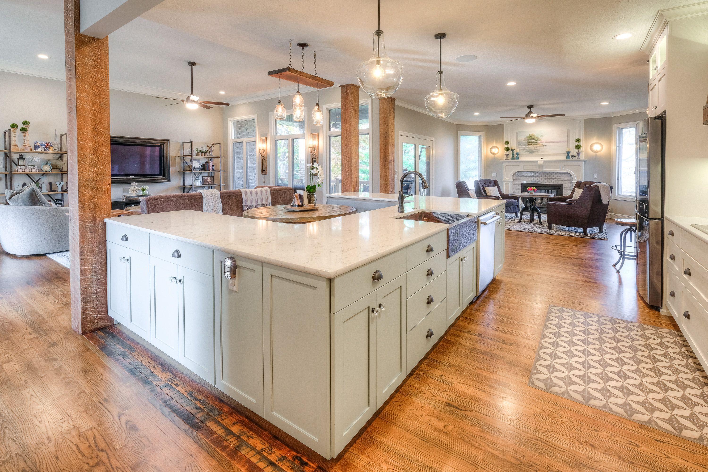 White and white counter tops. Custom kitchen