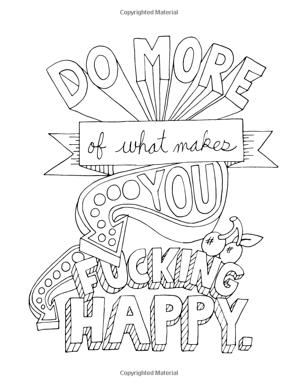 Amazon Make Life Your Bitch A Motivational Inspirational Adult Coloring Book Turn Stress Into Success And Color Fun Typography
