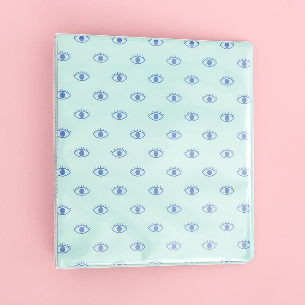 1 Inch D Ring Binder - Aqua Eyes