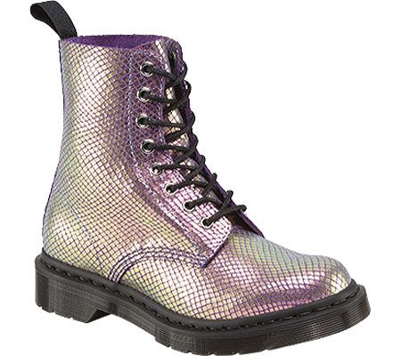 1b240a318655 Womens Dr. Martens Pascal 8-Eye Boot - Violet Mirror Shift Suede - FREE  Shipping   Exchanges