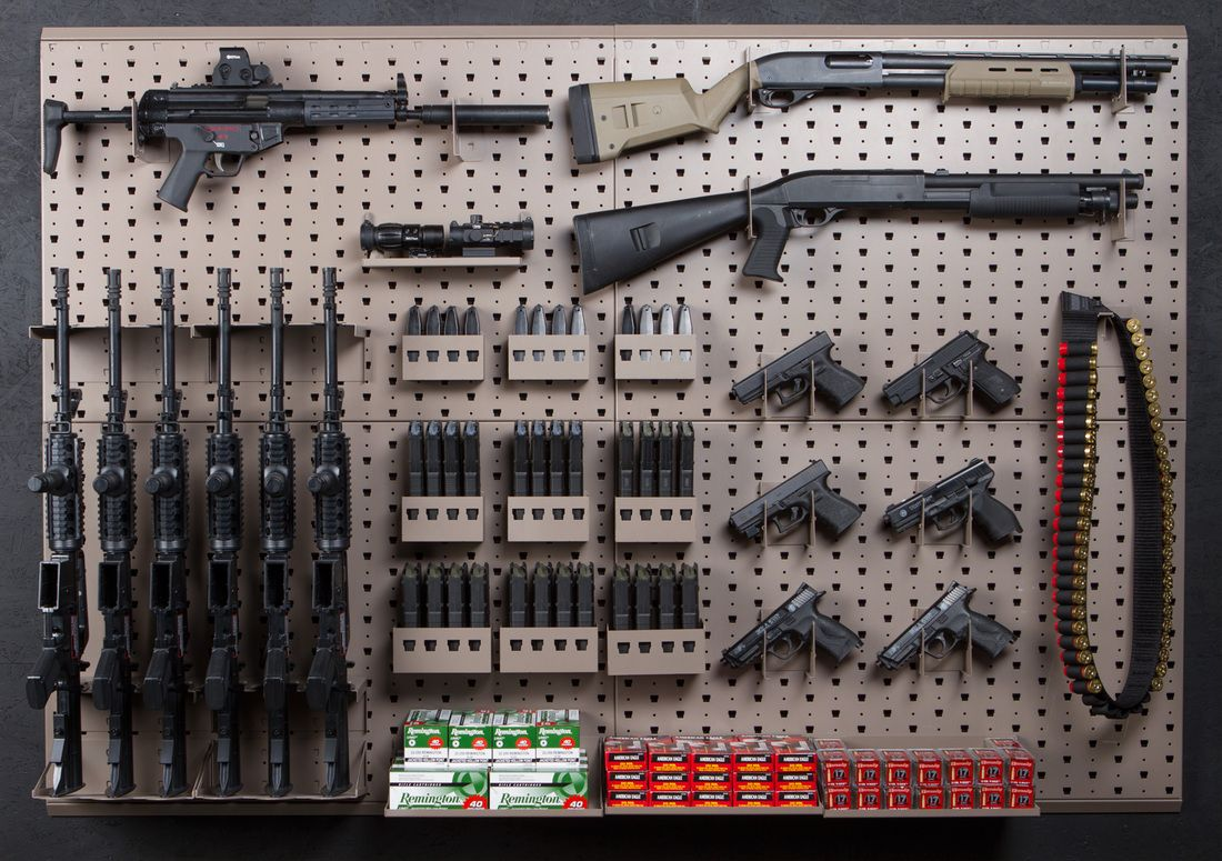 Expandable Walk Boards : Expandable weapons storage and gun rack armory