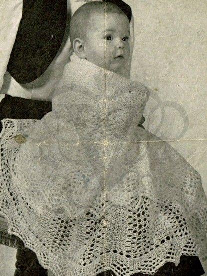Vintage Baby Shawl Knitting Pattern Circular Lace Shawl Heirloom