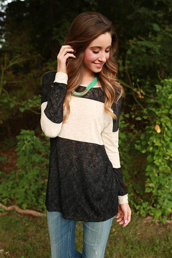 4db94536dec Chai Latte Cuddles Tunic Sweater in Black