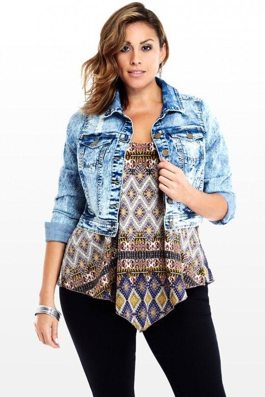 piniful.com plus size jean jacket (12) #plussizefashion | Plus ...