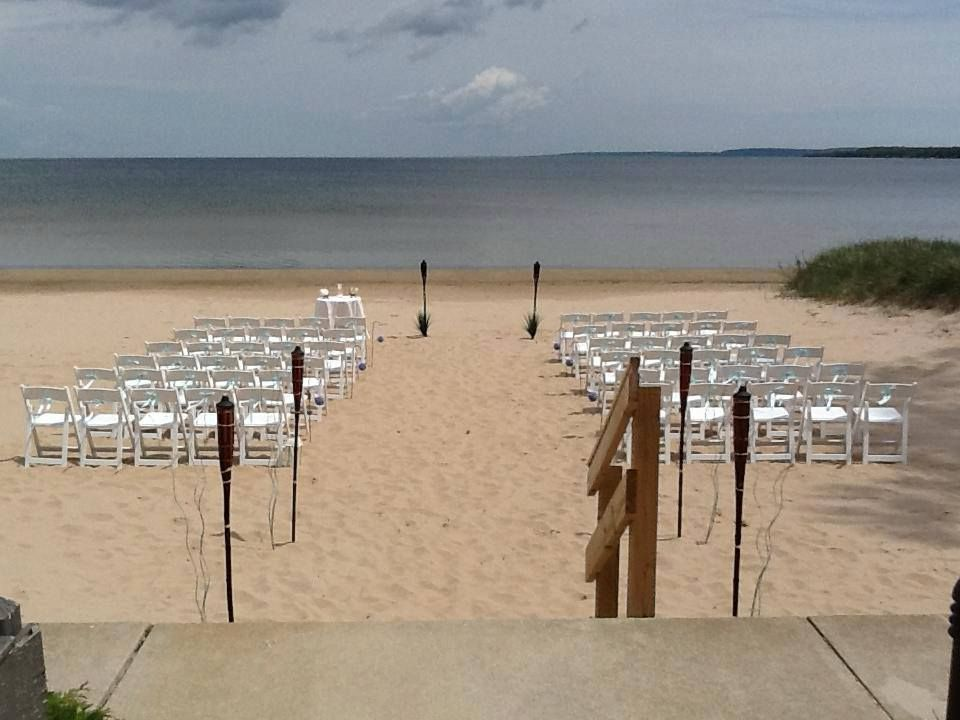 Door County Outdoor Beach Wedding At Sand Bay Resort Located In Sturgeon Wisconsin