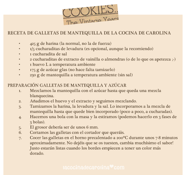 ingredientes para preparar galletas