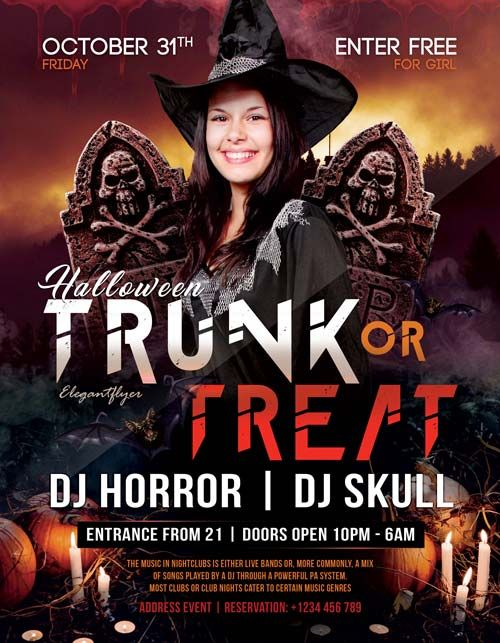 Halloween Club Free Party Flyer Template    Http://freepsdflyer.com/halloween Club Free Party Flyer Template/ Enjoy  Downloading The Halloween Club Free Party ...