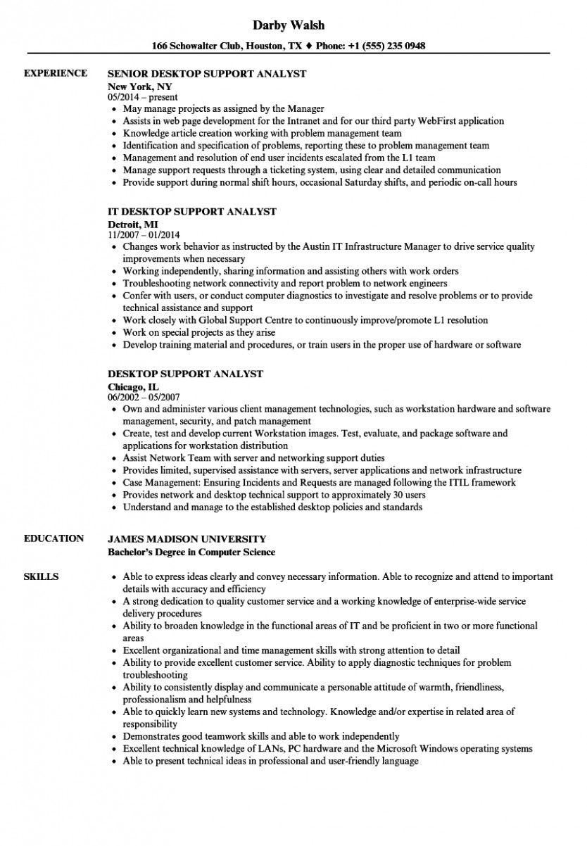 11 Desktop Assist Engineer Resume Doc di 2020