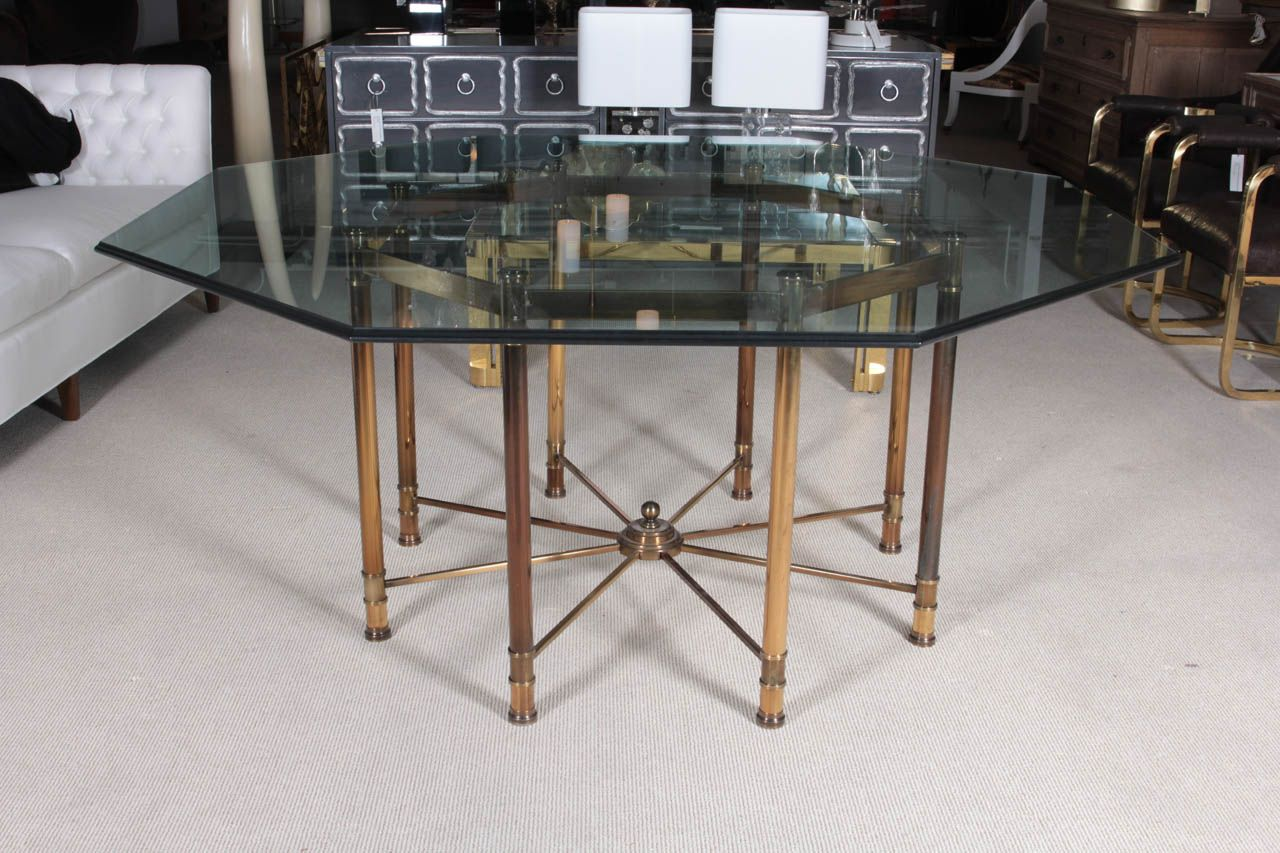 Mastercraft Oversized Brass Octagonal Dining Table | Dining room ...
