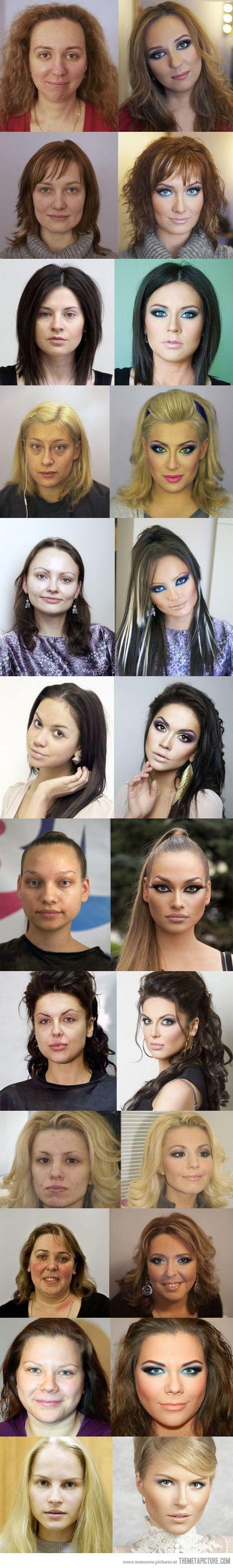 russian makeup before and after make up pinterest make up lustig und witzig. Black Bedroom Furniture Sets. Home Design Ideas