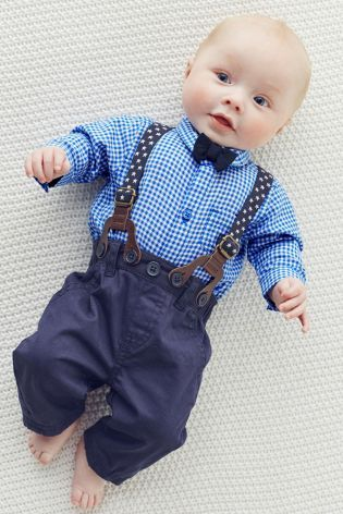 3347c8da0684 Buy Four Piece Light Blue Braces And Bow Tie Set (0-18mths) from the Next  UK online shop