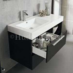 Wall mounted vanity unit home project toliets pinterest vanity units wall mount and vanities - Wastafel console ...