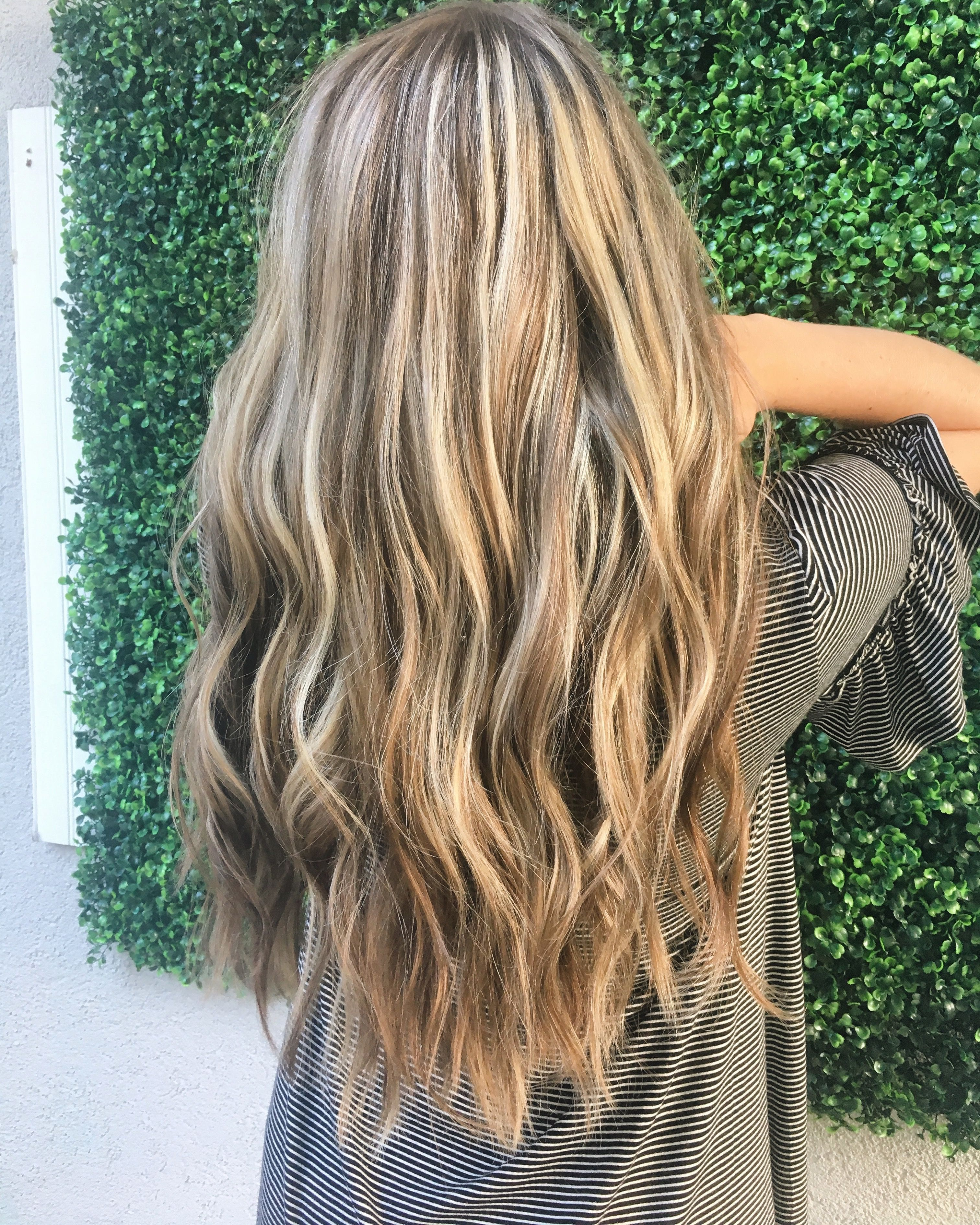 Warm Blonde Partial Balayage Balayage Hair Hair Color Balayage