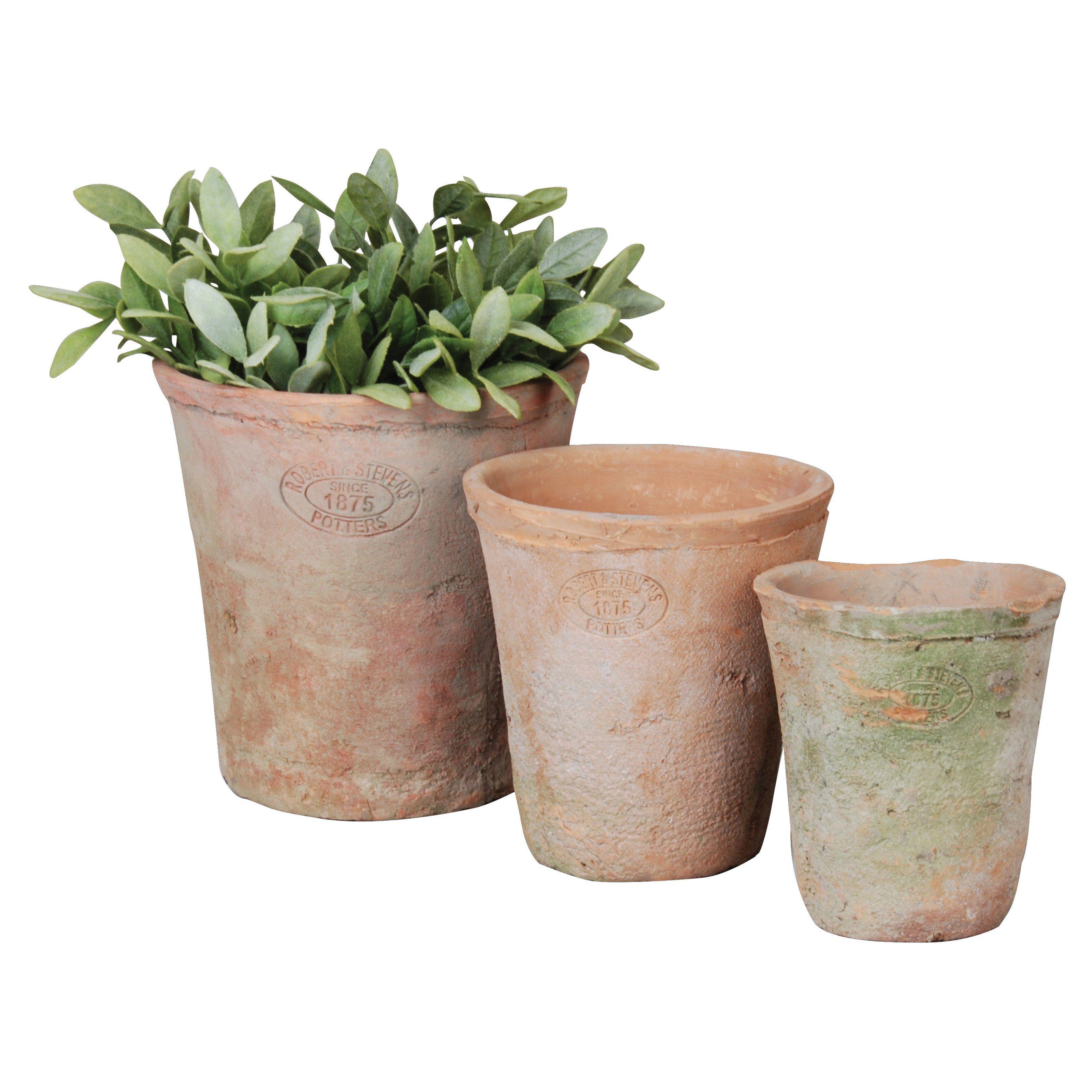 Have To Have It Esschert Design Aged Terracotta Round Pots Set Of 3 39 99 Hayneedle Terracotta Plant Pots Terracotta Pots Terracotta Planter