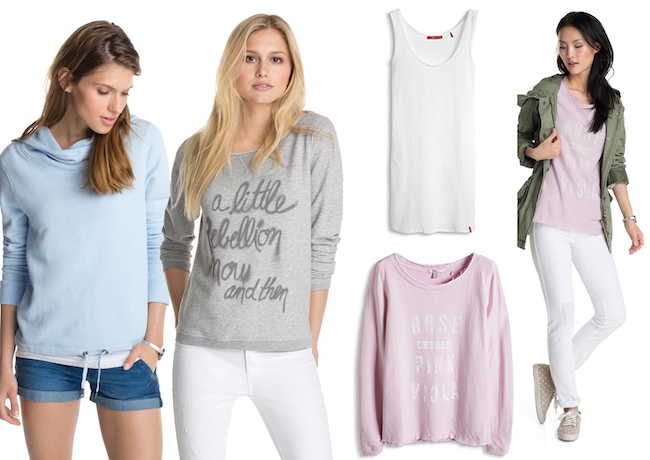 #denim #parka #outerwear #style #fashion #summer #collection #parka #sweatshirt #knit #tank #top #trousers #jumpsuit #jeans #casual #sporty #traveloutfit #workoutfit @Esprit #pink #pastel