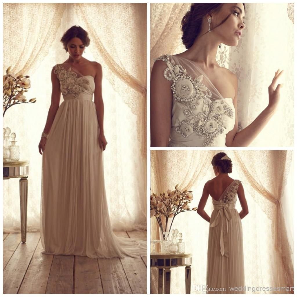 Wholesale Sheath Wedding Dresses - Buy 2014 Floral Goddess Wedding ...