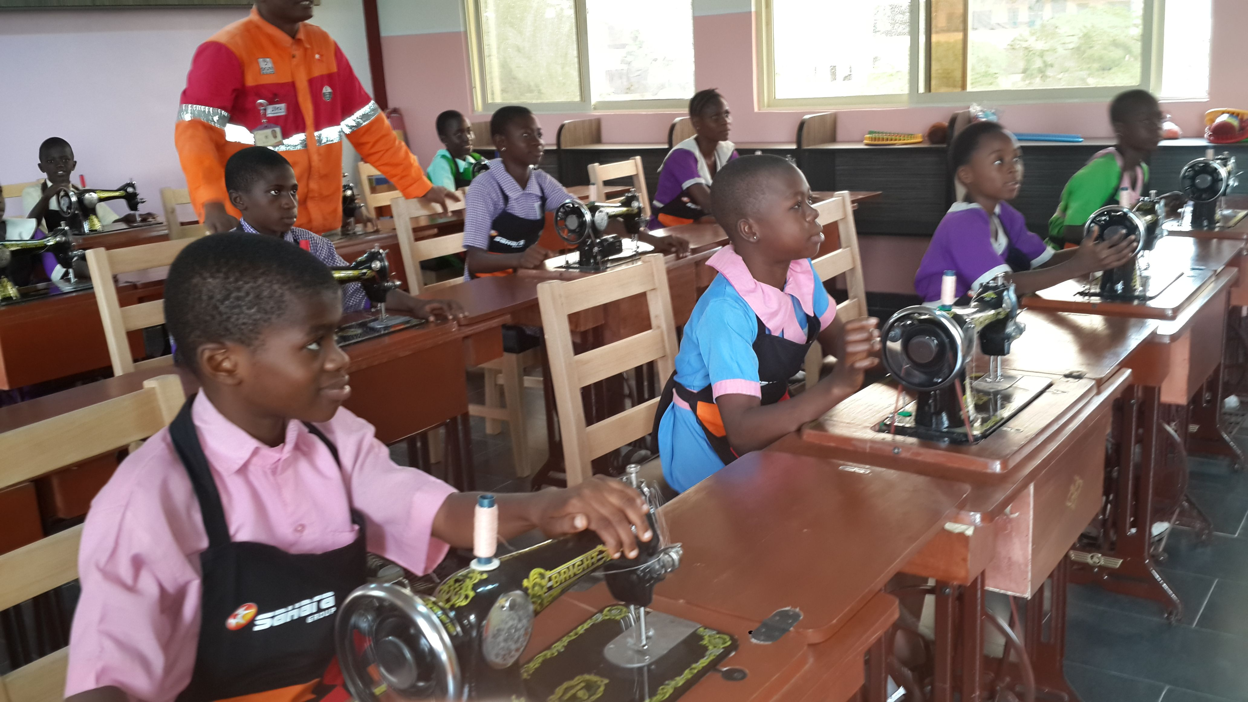 Sahara Foundation empowering kids at Oshodi, Lagos Nigeria