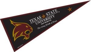 Texas State University Pennant Texas State University Texas State Texas