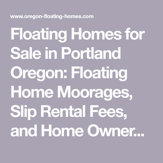 Floating Homes for Sale in Portland Oregon: Floating Home