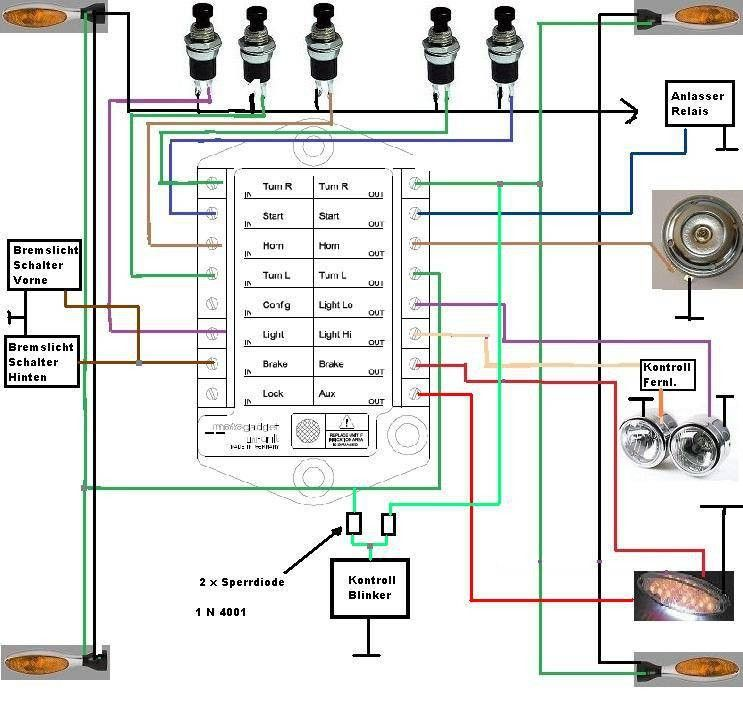 cb550 wiring diagram honda cb550 wiring harness motogadget m unit v2 motogadget pinterest cafes bmw #9