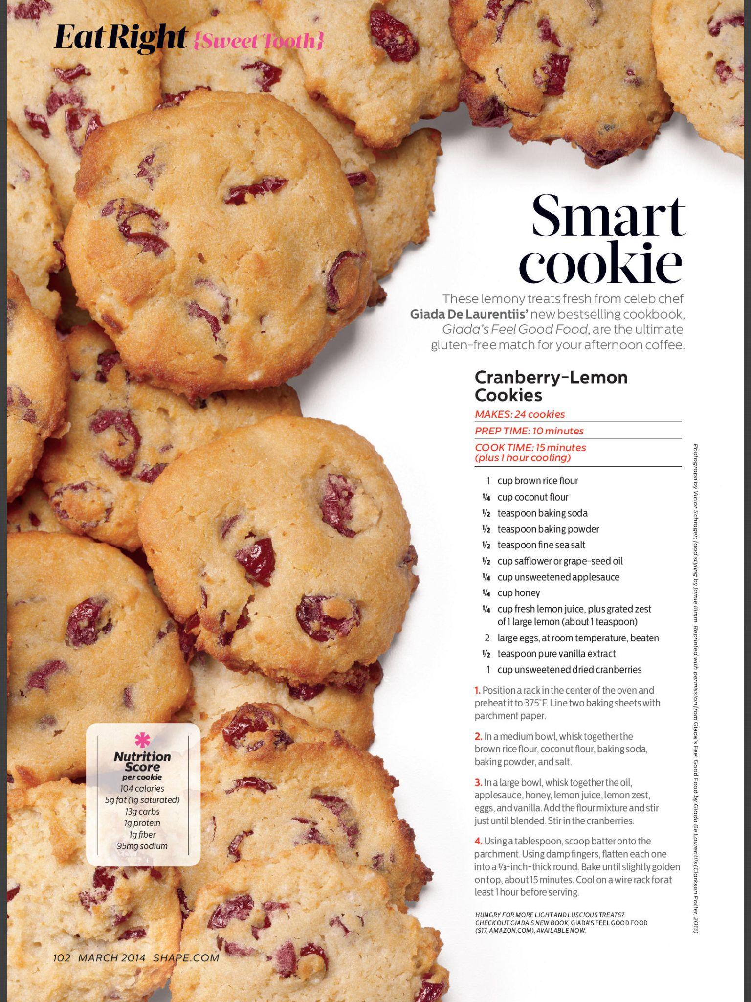 Gluten Free Cranberry Lemon Cookies Lemon Cookies Food Cookies