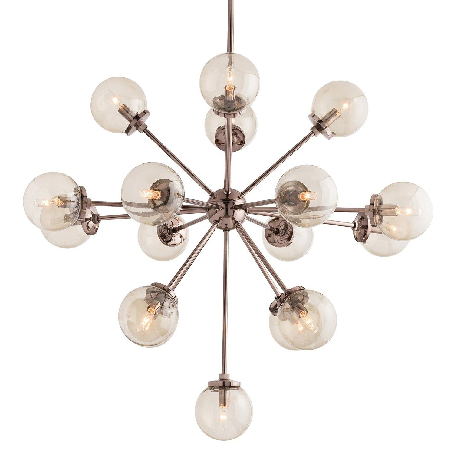 A new take on the globe chandelier the Henderson features 17