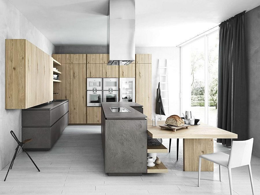 Cool Kitchen In Eco Cement And Wood Minimalist Kitchen Is A Celebration Of Exquisite Textures And Kitchen Fittings Interior Design Kitchen Kitchen Design Decor