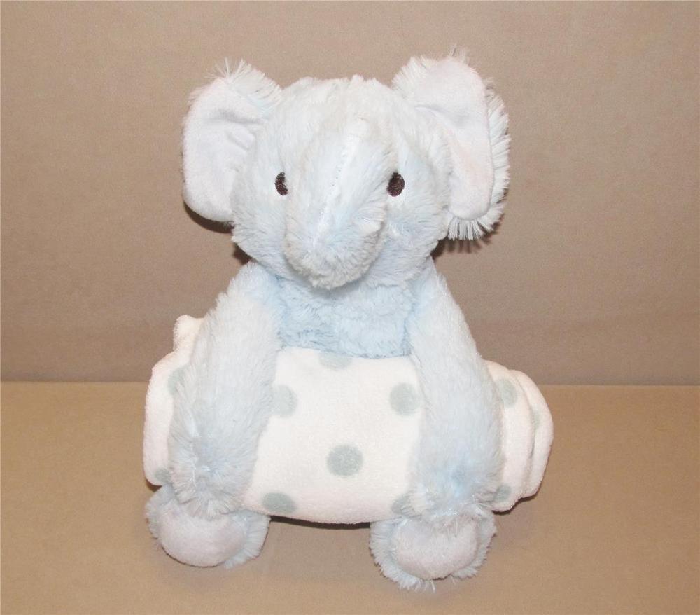 Holiday Time Walmart Blue Plush Stuffed Elephant Polka Dot Baby Blanket Set Nwot Holidaytime Plush Stuffed Animals Plush Animals Dots Baby Blanket