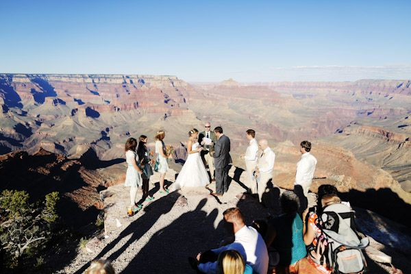 Grand Canyon Wedding Ceremony On The Cliffs Of A Mile