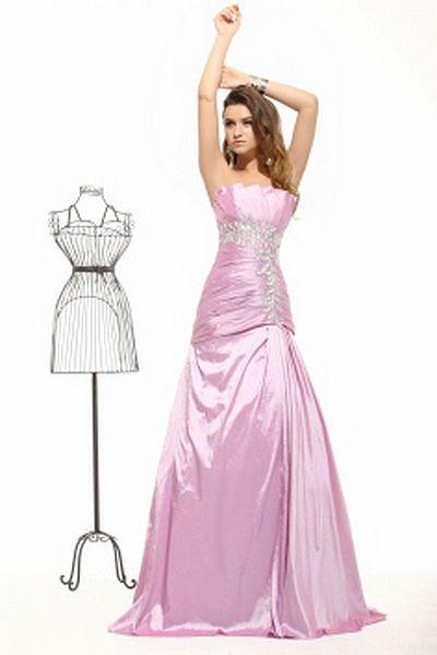 A-Line Liebsten Taft Berühmtheit Kleid kv2413 - Silhouette: A-Line ...