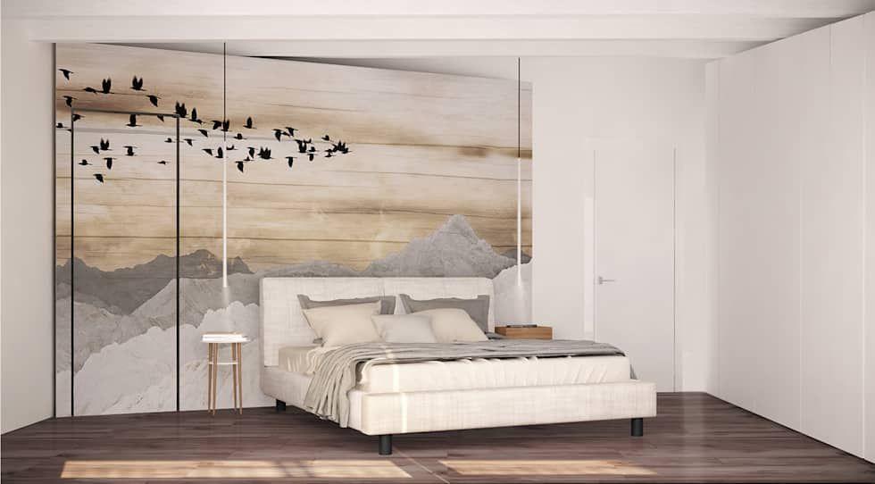 Foto di camera da letto in stile in stile minimalista ...