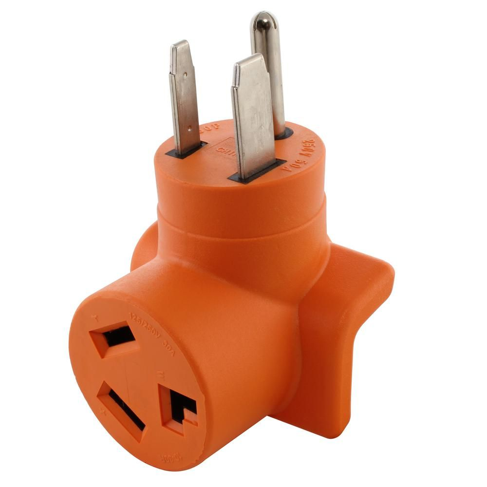 Ac Works 50 Amp Welder Outlet 6 50 Plug To 30 Amp 250 Volt 3 Prong Dryer 10 30 Dryer Adapter Ad6501030 The Home Depot In 2020 Plugs Vibratory Tumbler Prong