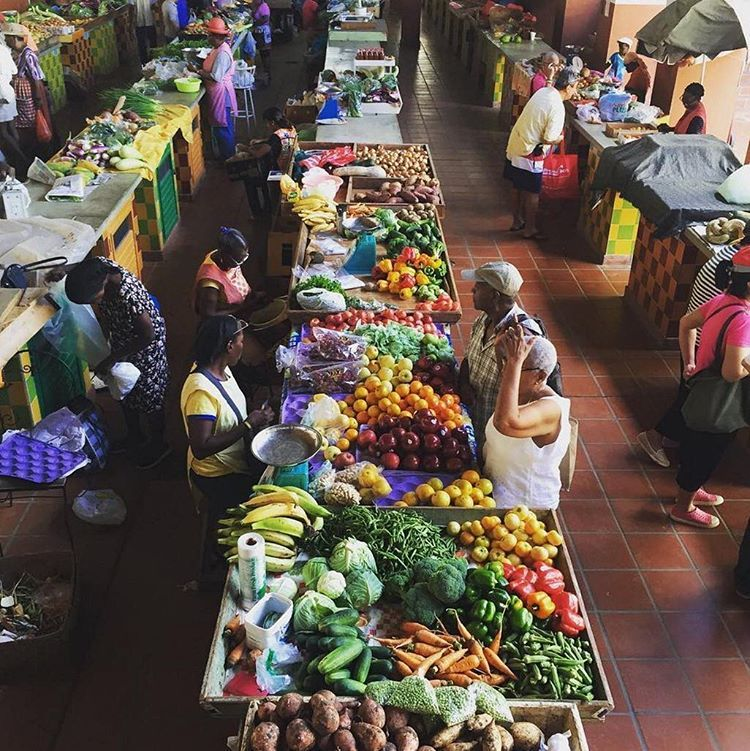 A Taste of Local Culture 🍏🍌🍉🍇🍐🍍🌽 #Barbados #TCCBIM #LocalMarket #246 #Barbados50 #TrueColorsCaribbean | 📷 @loopbarbados 🇧🇧