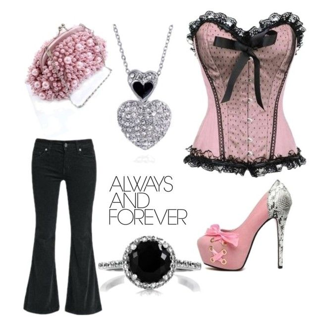 """Pretty Pink"" by destinystarr772 ❤ liked on Polyvore"
