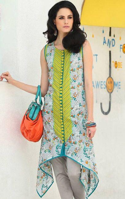 Buy Printed Cotton Lawn Kurti Komal Summer Lawn 2015 Collection By LSM.