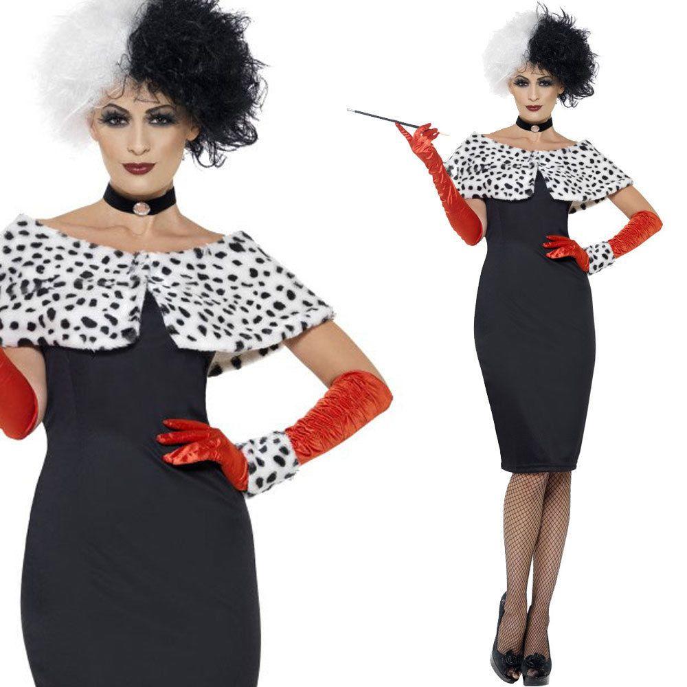 SMIFFYS Evil Madame Costume Woman Fancy Dress