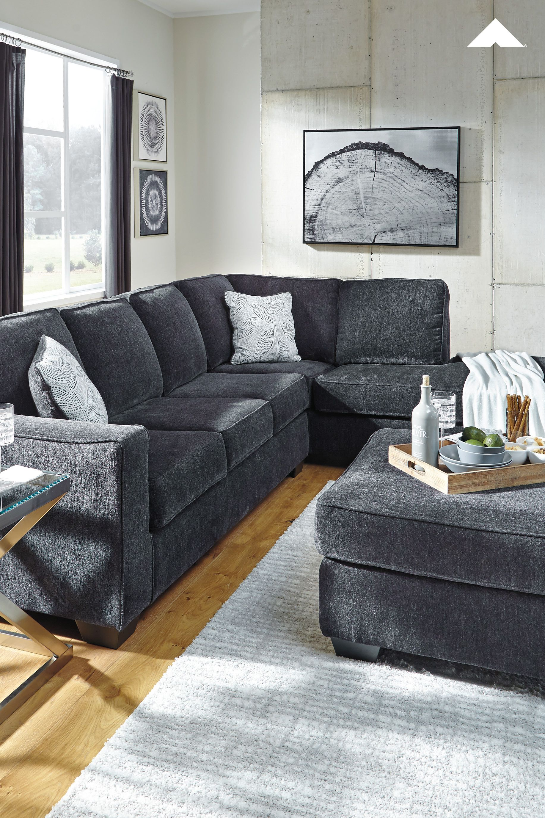 Altari Slate Sectional From Ashley Furniture Ashleyfurniture Sectional Sofa Sofa Design Sectional
