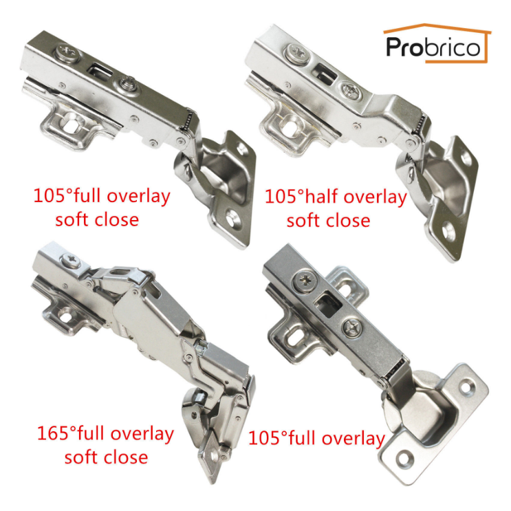 #probrico Soft Close Cabinet Hinges, Special 105/165 Degree, Full Overlay/