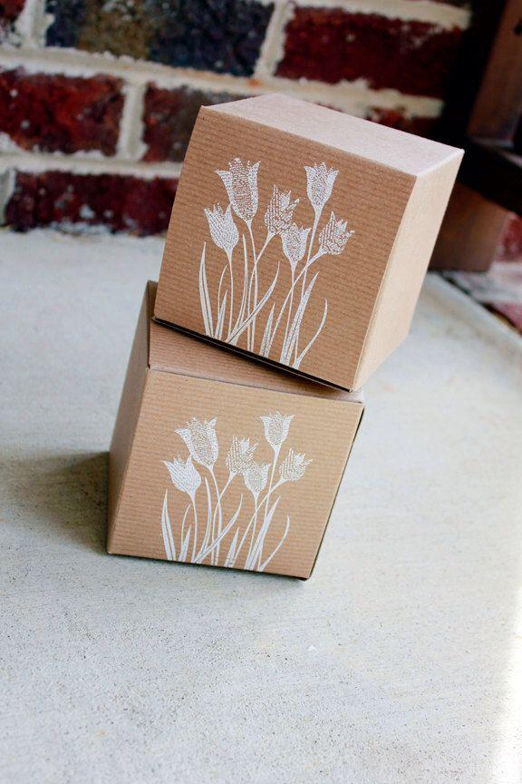 Rustic Wedding Favor Boxes Set Of 5 Cupcake Favor Box Kraft